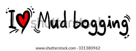 Mud bogging love - stock vector