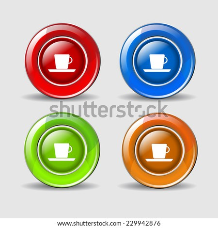 Mug Sign Colorful Vector Icon Design
