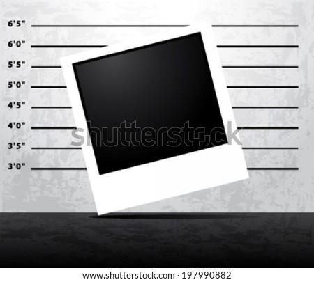 Mugshot prison vector background   - stock vector