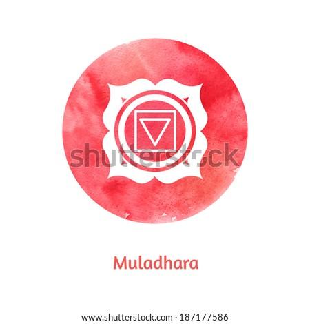 Muladhara chakra. Vector Illustration. - stock vector