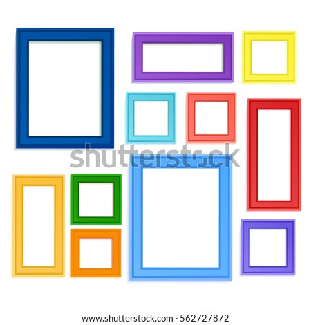 multi colored photo frames for children picture composed in composition insert photo memory or use