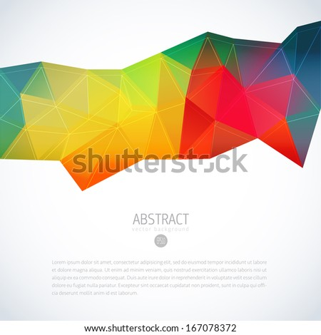 Multi colored vector abstract polygonal background - stock vector