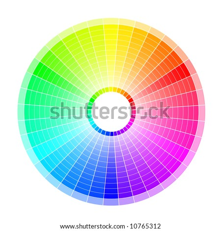 Multi-colored wheel on the white background.