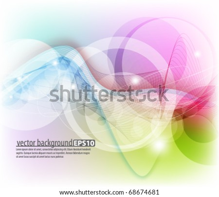 Multicolor abstract design