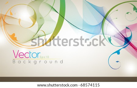 Multicolor abstract foliage design - stock vector