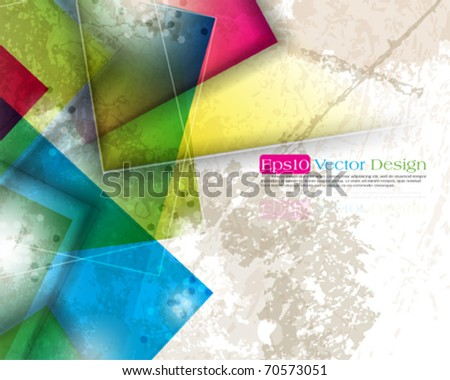 multicolor abstract grunge design. eps10 vector - stock vector