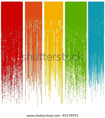 multicolor abstract grunge drips vector illustration - stock vector