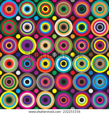 Multicolor background. Circles seamless pattern. Abstract geometric background. - stock vector