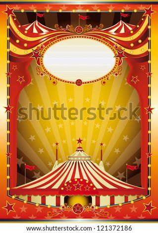 Multicolor background circus. Color circus with big top for your show. - stock vector