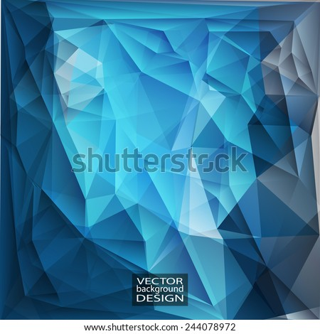 Multicolor ( Blue, Gray ) Design Templates. Geometric Triangular Abstract Modern Vector Background.  - stock vector