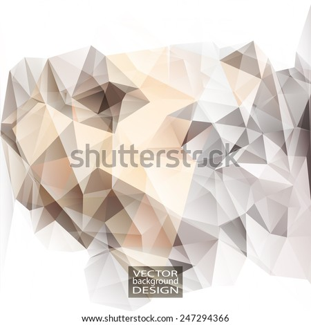 Multicolor ( Brown, White, Gray, Yellow ) Design Templates. Geometric Triangular Abstract Modern Vector Background.  - stock vector