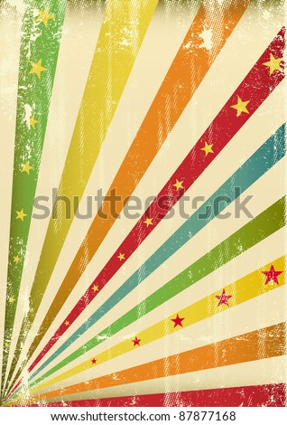 Multicolor cool scratched leaflet. An abstract background for a poster. - stock vector