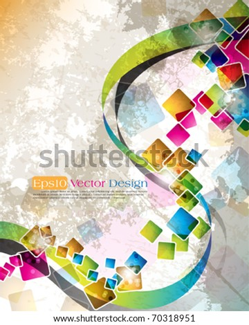 multicolor cube design in eps10 vector format - stock vector