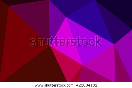 Multicolor dark blue, red polygonal illustration, which consist of triangles. Geometric background in Origami style with gradient. Triangular design for your business.