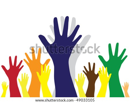 multicolor hands - symbol of diversity