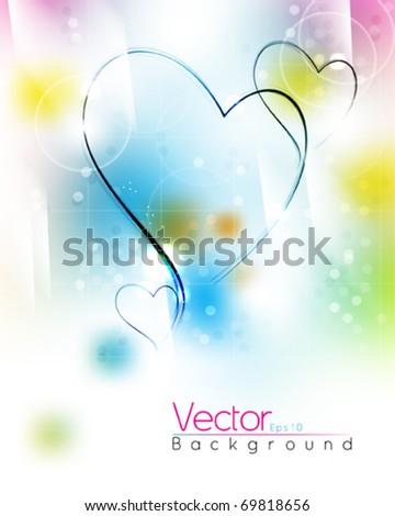 multicolor heart design for valentines. eps10 vector - stock vector