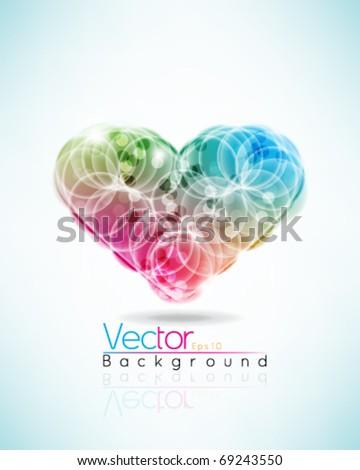 Multicolor heart design in eps10 vector format - stock vector