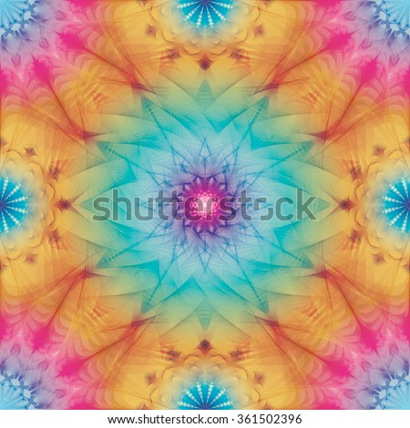 Multicolor kaleidoscopic seamless pattern eps10 - stock vector