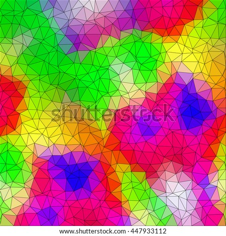 Multicolor low poly abstract background. Vector. - stock vector