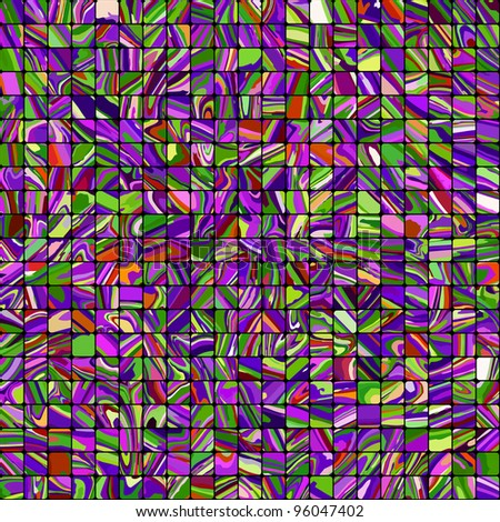 Multicolor Mosaic Background. EPS 8 vector file included - stock vector