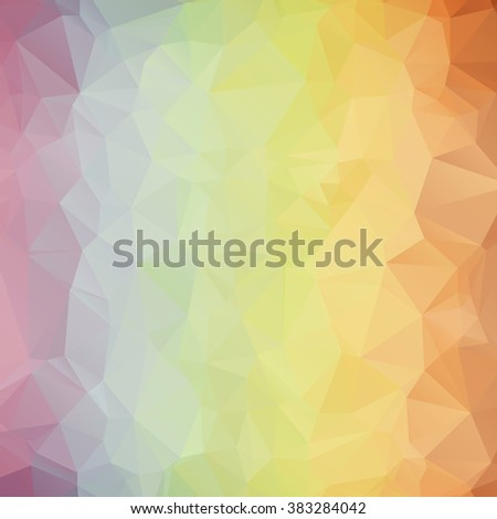 Multicolor polygonal illustration. Geometric background. Triangular design in vector.
