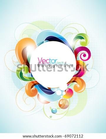 Multicolor round frame design - stock vector