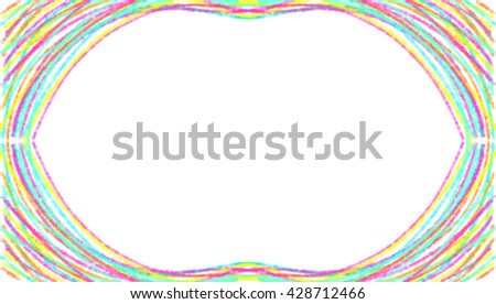 multicolor vector rainbow frame on a white background