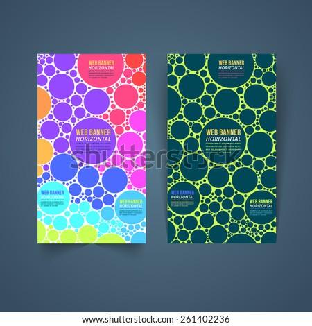 Multicolor Vertical Vector Web Banner Template - stock vector