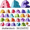 Multicolored alphabet: letters. Vector illustration. - stock vector