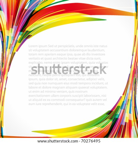 Multicolored background. Elements for design. Eps10. - stock vector
