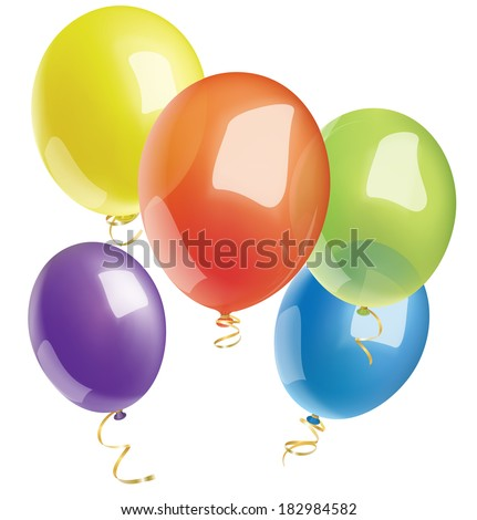 Multicolored balloons. Vector illustration