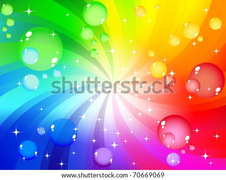 Multicolored bubble background - stock vector