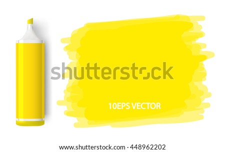 Multicolored felt-tip on a white background with lines. - stock vector