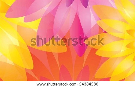 Multicolored floral background in editable vector format - stock vector