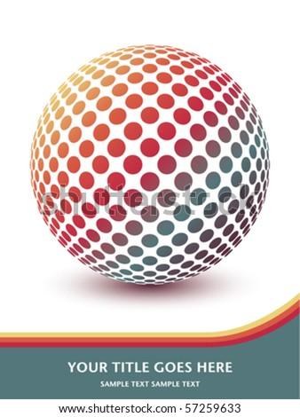 Multicolored globe design with copy space. - stock vector