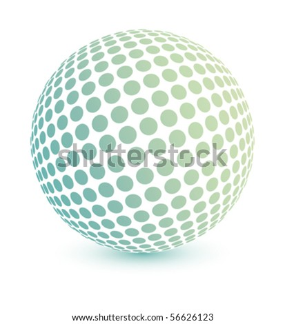 Multicolored globe vector.