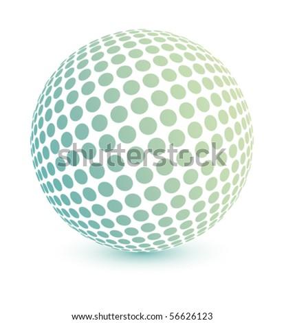 Multicolored globe vector. - stock vector