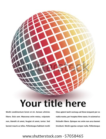 Multicolored globe with copy space. - stock vector