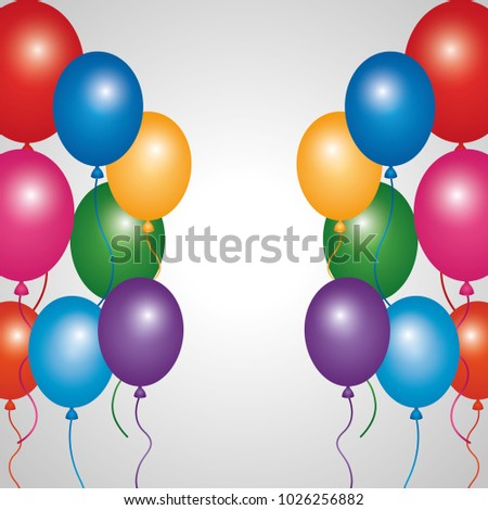 multicolored glowing balloons decoration festive party