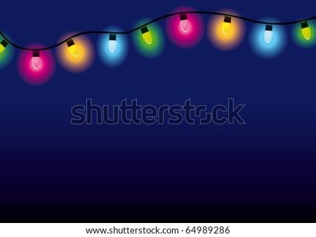 Multicolored lamp festive - stock vector