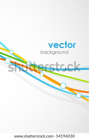 Multicolored lines. Vector abstract background - stock vector
