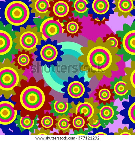Multicolored pattern in the style of boho, cloth.