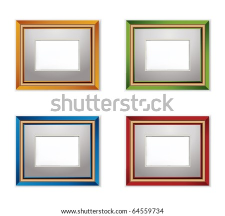 Multicolored Photo frame. - stock vector