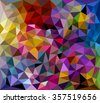Multicolored, rainbow polygonal mosaic. Triangular low poly style. - stock vector