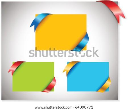 Multicolored Sale Tags. - stock vector