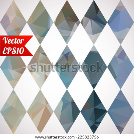 Multicolored seamless background. Geometrical ornament with kaleidoscopic pattern. Vector illustration EPS10 - stock vector