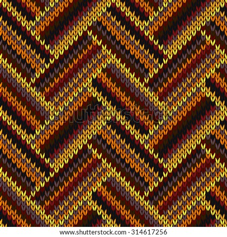 Multicolored Seamless Knitted Pattern - stock vector