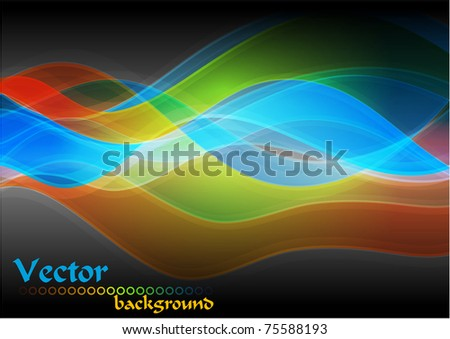 Multicolored vector abstraction. Eps 10 - stock vector