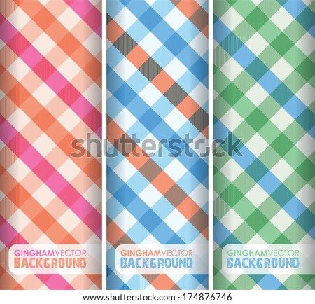 multicoloured gingham background - stock vector