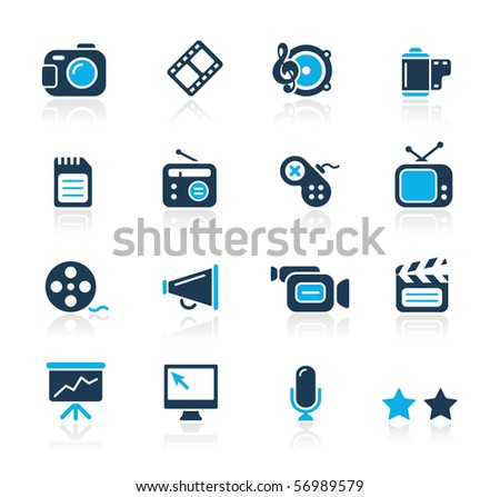 Multimedia // Azure Series - stock vector